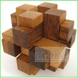 Gra Drewniana układanka Puzzle 3D Kostka G205