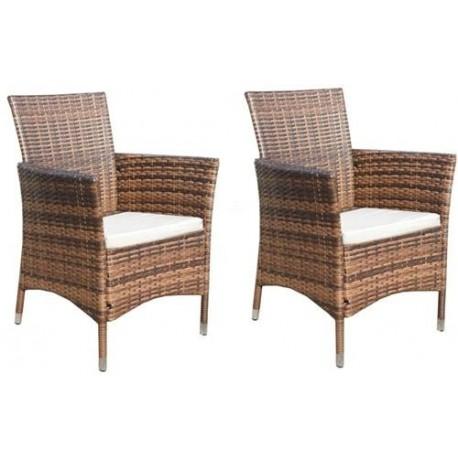 Komplet Krzeseł DW04 brąz