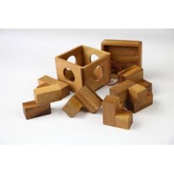Gra Drewniana Puzzle 3D Kostka Soma L