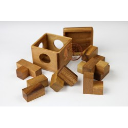 Gra Drewniana Układanka Puzzle 3D Kostka Soma S