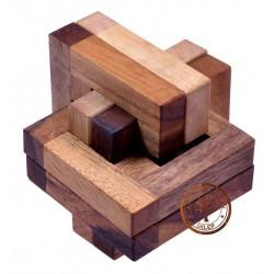 Gra Drewniana ukladanka Puzzle 3D Kostka JAM