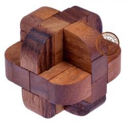 Gra Drewniana Układanka Puzzle 3D Kostka G174