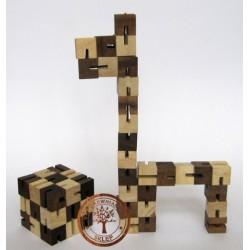 Gra Drewniana Układanka Puzzle 3D Zmienna Kostka