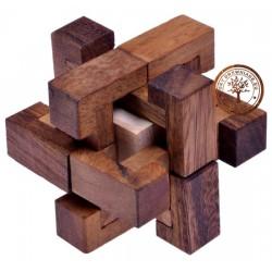 Gra Drewniana Układanka Puzzle 3D Kostka TRAP