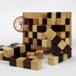 Gra Drewniana Układanka Puzzle 3D Kostka Szachowa 125 XL