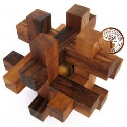 Gra Drewniana Układanka Puzzle 3D Kostka Tavor