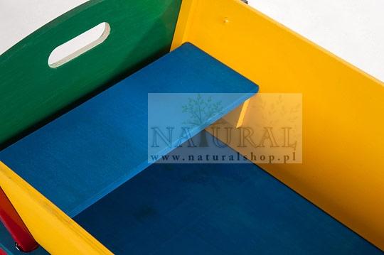 Wózek drewniany dla dzieci - kolorowy - sklep - Naturalshop.pl