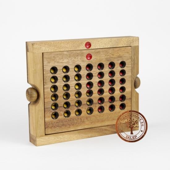 Gra Drewniana - 4 wygrywa - wersja Expert - sklep - grydrewniane.eu