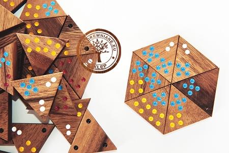 Gra Drewniana - Domino trójkąty - Planszowa - sklep - GryDrewniane.eu