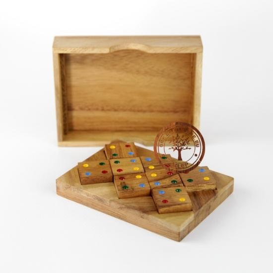 Gra Drewniana - Domino Kwadraty - puzzle - sklep - GryDrewniane.eu
