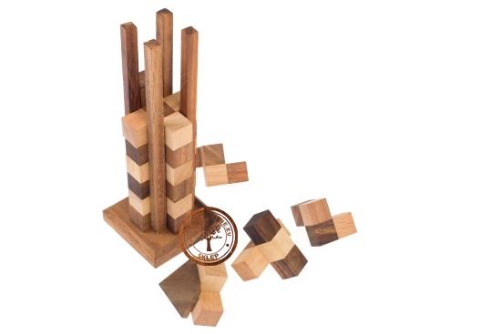 Gra Drewniana - Drapacz Chmur - puzzle 3d - sklep - GryDrewniane.eu