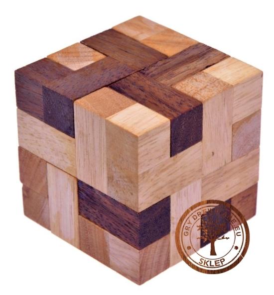 Gra Drewniana - Kostka Block - Układanka - puzzle 3d - sklep - GryDrewniane.eu