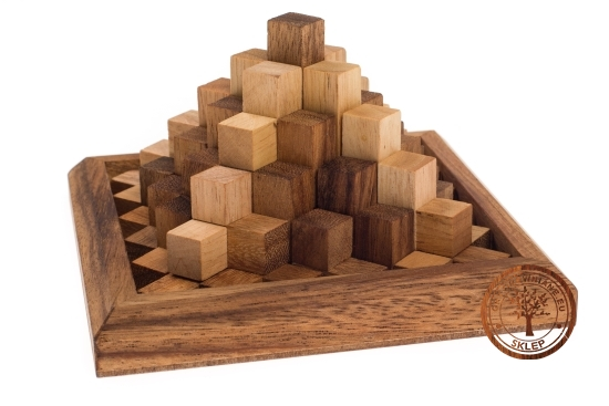Gra Drewniana - Piramida Cheopsa - puzzle 3D - sklep - GryDrewniane.eu