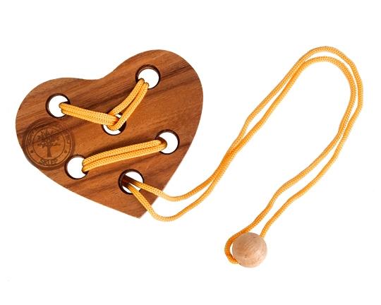 Puzzle sznurowe - serce - sklep - GryDrewniane.eu