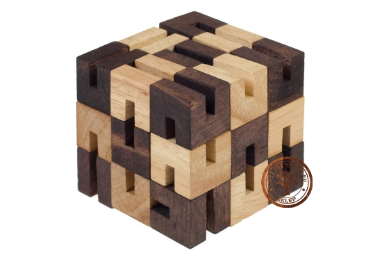 Gra Drewniana - Zmienna Kostka - Układanka - puzzle 3d - sklep - GryDrewniane.eu