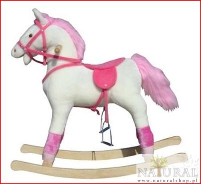 Koń na biegunach - różowy
